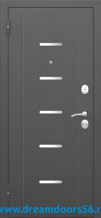 Входная металлическая дверь Гарда 7,5 муар мокко